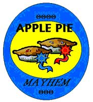 Apple Pie Mayhem team badge