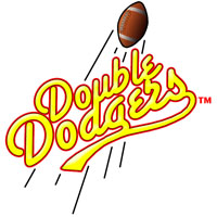 Double Dodgers team badge
